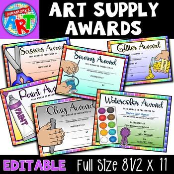 Art Supply Awards
