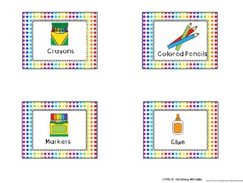 Art Supply Labels