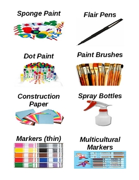 Art Supply Labels With Vivid Illustrations!!!