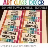 Art Supply Labels EDITABLE