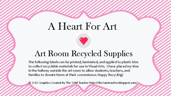 Art Supply Recycling Labels