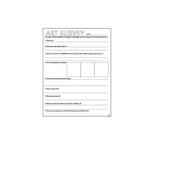 Art Class Survey