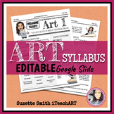 Art Syllabus Editable (High school or Middle school)
