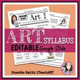 Art Syllabus Editable (High school or Middle school)