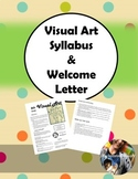 Art Syllabus & Welcome Letter (Editable)