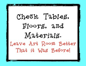 Art Table Jobs Turquoise Border