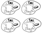 Art Table Labels