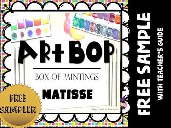 Art Task Card - FREE SAMPLER - I See, I Think, I Can!