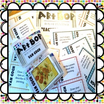 Art Task Cards - Matisse - Monet - Picasso - Van Gogh -200 Cards 4PK Bundle