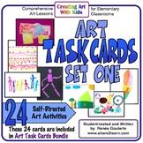 Art Task Cards Set 1 Distance Learning