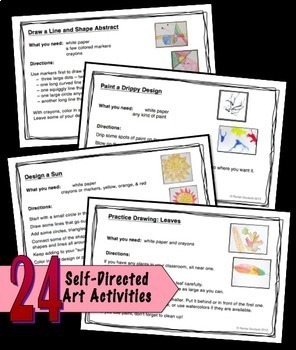 Art Task Cards Set 2