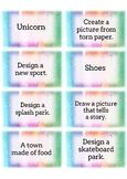 Art Task Cards.. Sketchbook & Art Journal Prompts