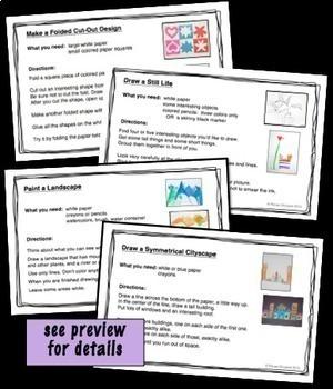 Art Task Cards Bundle