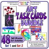 Art Task Cards Bundle Distance Learning