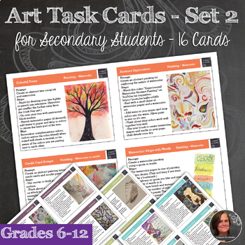 *Student Choice Framework with Art Task Cards and Prompt Cards