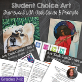 Student Choice Framework with Art Task Cards and Prompt Cards