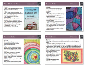 *Art Task Cards for Early Finishers - Set 1 & 2 (32 Cards) Bundle