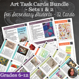 Art Task Cards for Early Finishers - Set 1 & 2 (32 Cards) Bundle