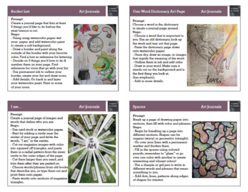 Art Project Task Cards for Early Finishers - Set 2 (16 Cards)