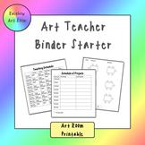 Art Teacher Binder Starter - Printable