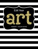 Art Teacher Editable Planner