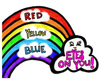 Art Teacher Call and Response - Red, Yellow, Blue - Eyes on You