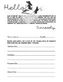 Art Teacher Introduction Letter