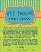 Art Teacher Must Haves