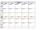 Art Teacher Plan book Schedule