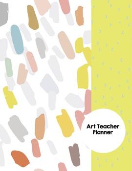 Art Teacher Planner K-12 - Brushstrokes – UPDATED 2017-2018