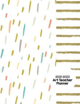 Art Teacher Planner K-12 - Gold Dust Stripe – UPDATED 2017-2018