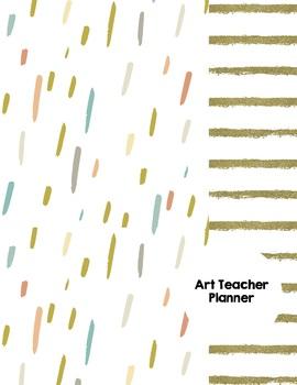 Art Teacher Planner K-12 - Gold Dust Stripe – UPDATED 2018-2019