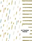 Art Teacher Planner K-12 - Gold Dust Stripe – UPDATED 2021-2022