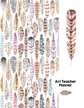 Art Teacher Planner K-12 - Light as a Feather – UPDATED 2020-2021