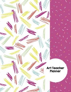Art Teacher Planner K-12 - Pink Confetti – UPDATED 2017-2018