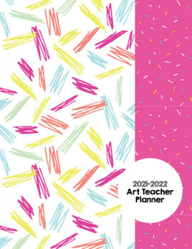 Art Teacher Planner K-12 - Pink Confetti – UPDATED 2017-2018