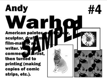Art Teacher Printable Table Signs