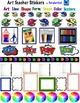 Art Teacher Stickers- DIY Planner Stickers- 84 different stickers- Organize