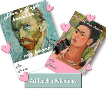 Valentines Day: Art Teacher Valentines