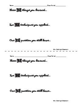 Art Techniques Formative Assessment