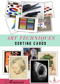 Art Techniques Sorting Cards