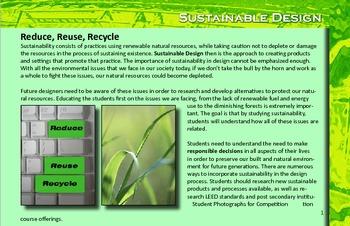 Art & Technology Education- Sustainable Design