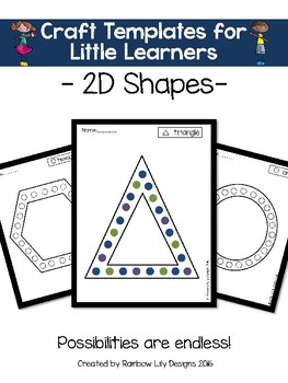 Art Templates for Little Learners_2D Shapes