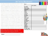 Art Terms Wordsearch Puzzle Sheet Keywords Activity Paint Supplies