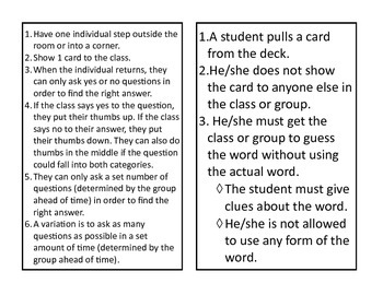 Art Terms and Vocabulary Cards