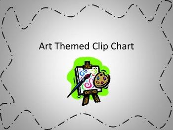 Art Themed Clip Chart