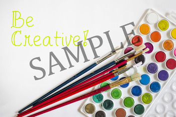 Art Themed Images and Digital Paper