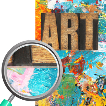 Art Themed Photos / Photograph Clip Art Set for Commercial Use