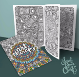 Coloring Book - Art Therapy Volume 1 - Printable PDF