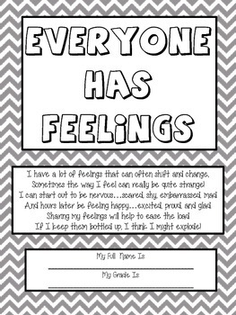 """Art Therapy Counseling Lesson Plan: Emotional Awareness/""""Everyone has Feelings"""""""